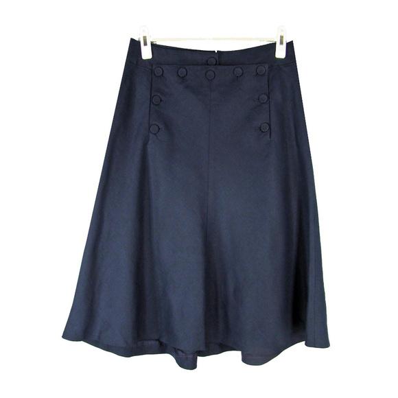 3b276680d J. Crew Skirts | J Crew Linen Sailor Skirt Button Front Laced Back ...